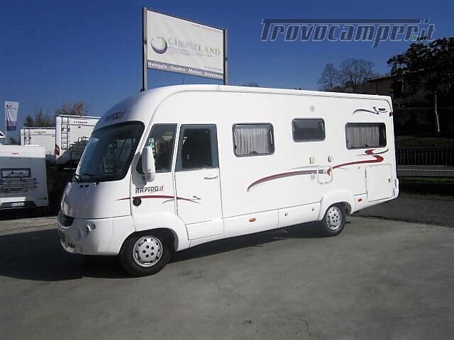 MOTORHOME 4 POSTI CON LETTO ALLA FRANCESE RAPIDO 986F usato  in vendita a Rieti - Immagine 1