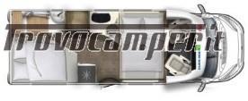 SEMINTEGRALE EURAMOBIL PROFILA RS 675 SB CON BASCULANTE 4 POSTI nuovo  in vendita a Modena - Immagine 11