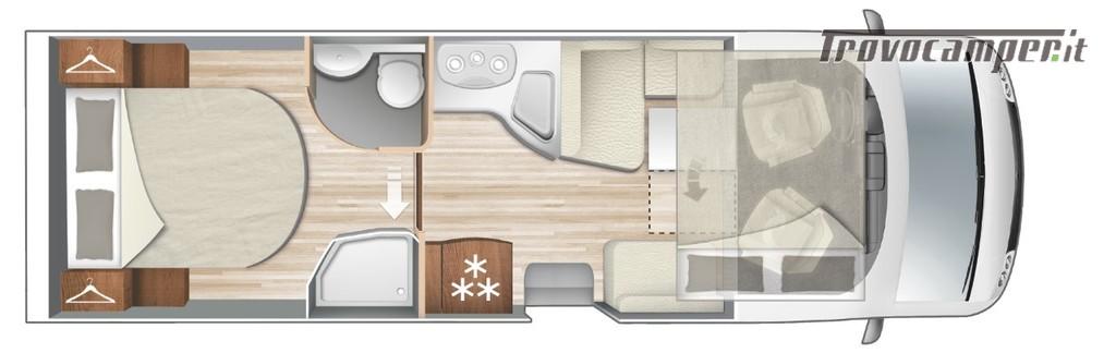 Motorhome ARCA Europa H 740 GLC con garage e letto matrimoniale in coda nuovo  in vendita a Massa-Carrara - Immagine 12