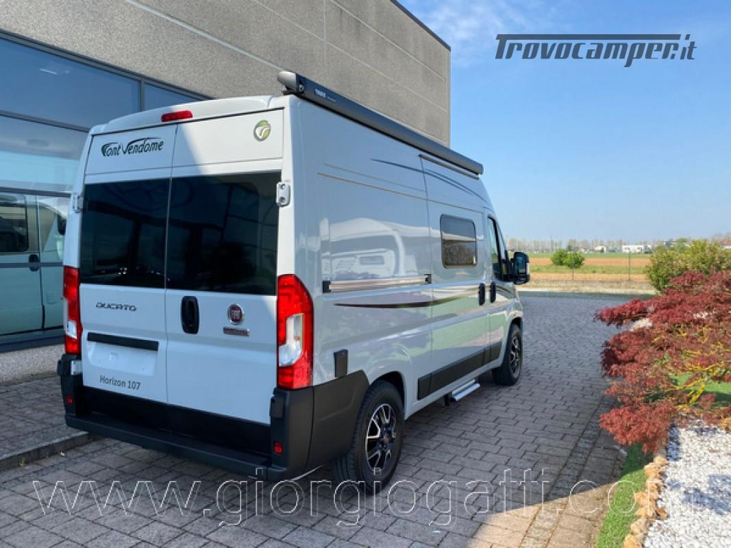 Camper puro Fontvendome Horizon 107 van da 5,41 mt con riscaldamento diesel usato  in vendita a Alessandria - Immagine 23