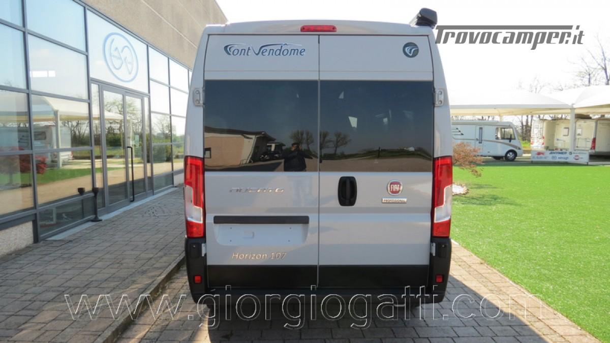 Camper puro Fontvendome Horizon 107 van da 5,41 mt con riscaldamento diesel usato  in vendita a Alessandria - Immagine 27