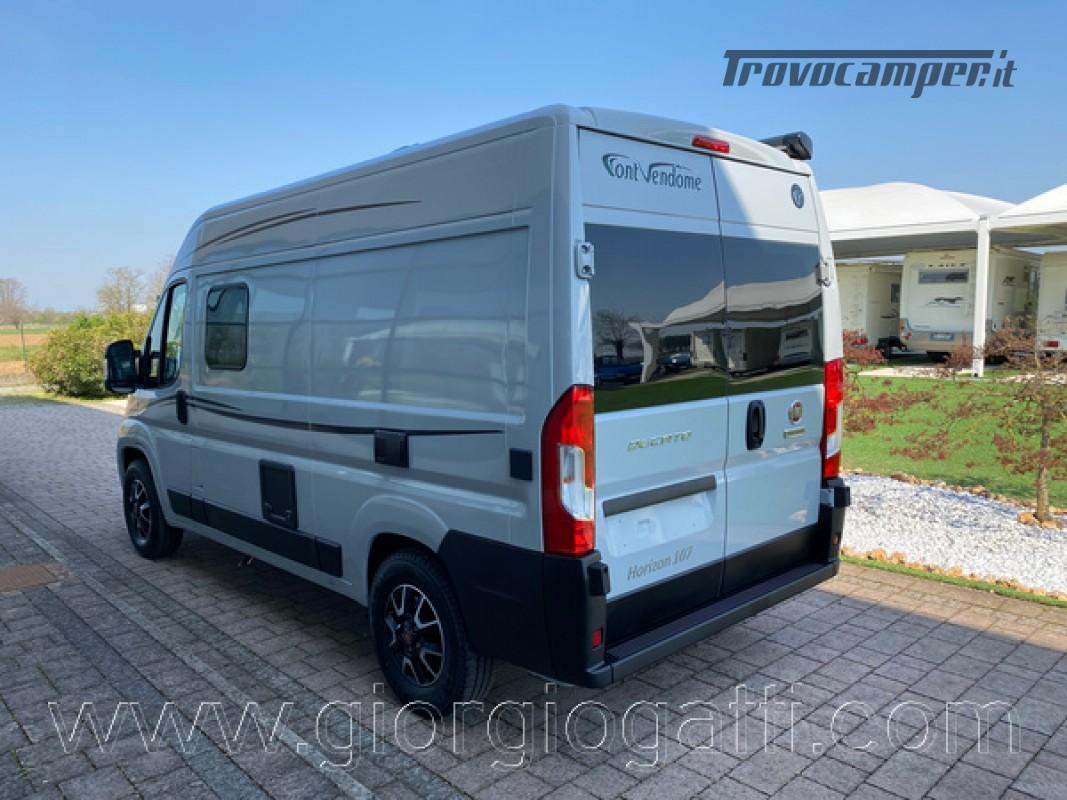 Camper puro Fontvendome Horizon 107 van da 5,41 mt con riscaldamento diesel usato  in vendita a Alessandria - Immagine 28