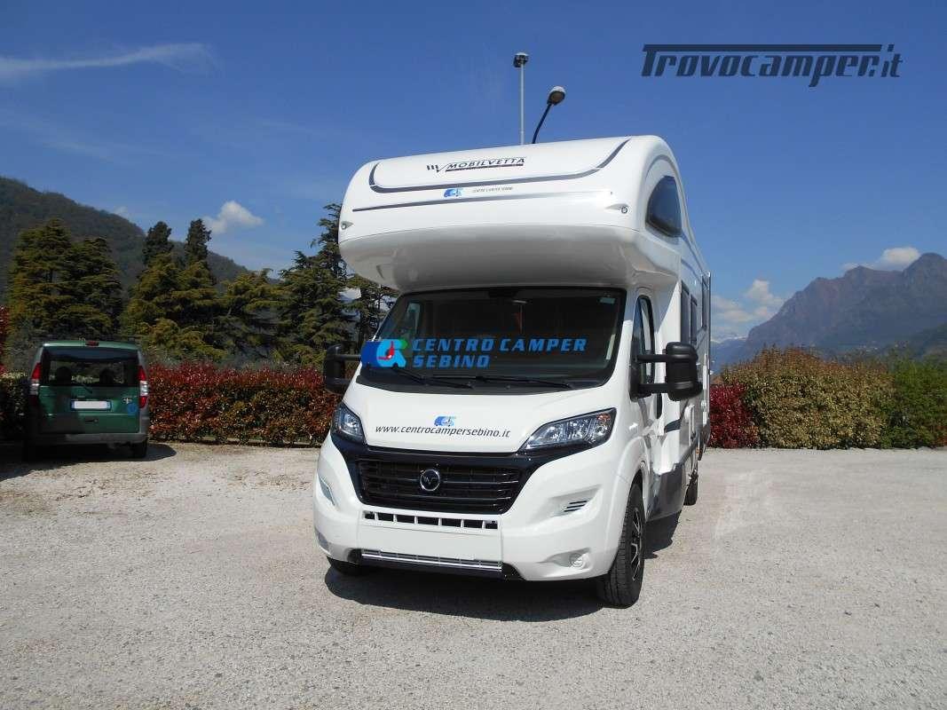 Noleggio Mobilvetta Kea M 79 camper mansardato con letto nautico e garage usato  in vendita a Brescia - Immagine 3