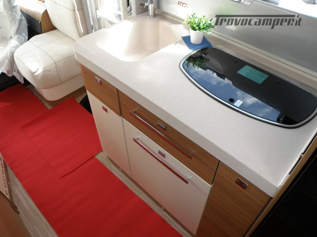 MOTORHOME ARCA H 640 GLM IN PRONTA CONSEGNA LETTO MATRIMONIALE nuovo  in vendita a Prato - Immagine 19