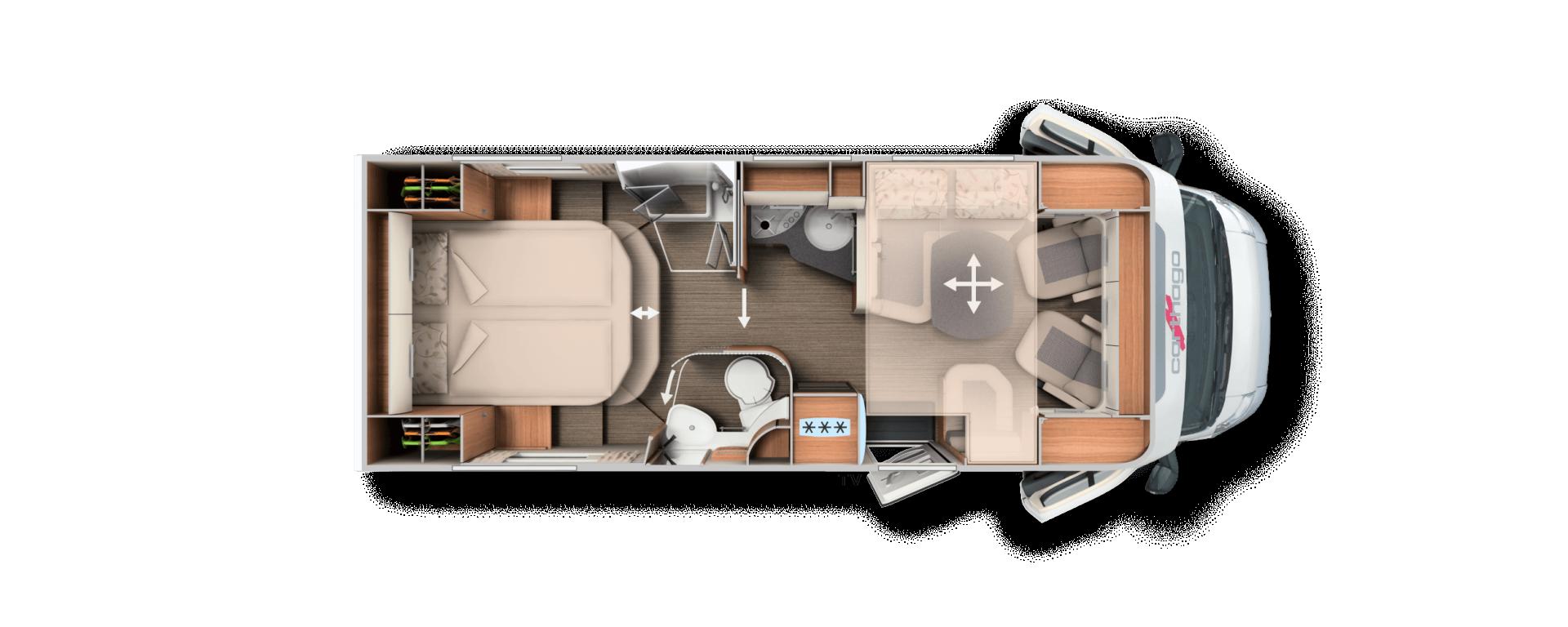 Semintegrale Carthago c-tourer T 144 QB nuovo  in vendita a Bolzano - Immagine 20
