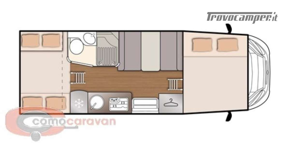 Mansardato MCLOUIS GLAMYS 220 ATTIVO A NOLEGGIO usato  in vendita a Como - Immagine 2