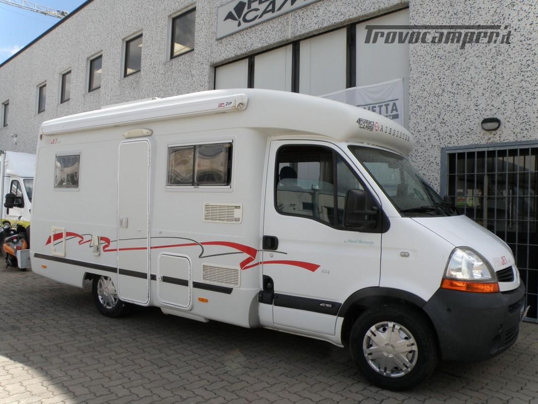 CAMPER SEMINTEGRALE LETTO ALAL FRANCESE CAMBIO AUTOMATICO ANNO 2007 usato  in vendita a Prato - Immagine 8