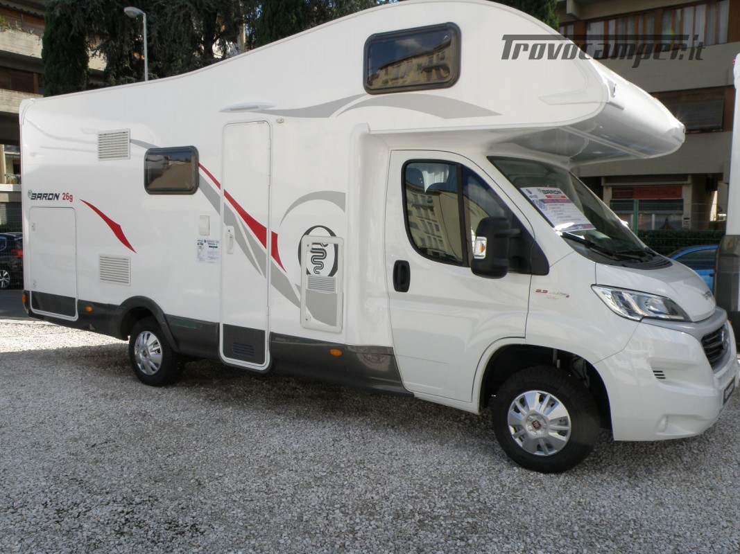 CAMPER MANSARDATO PRONTA CONSEGNA ELNAGH BARON 26 GARAGE nuovo  in vendita a Prato - Immagine 1