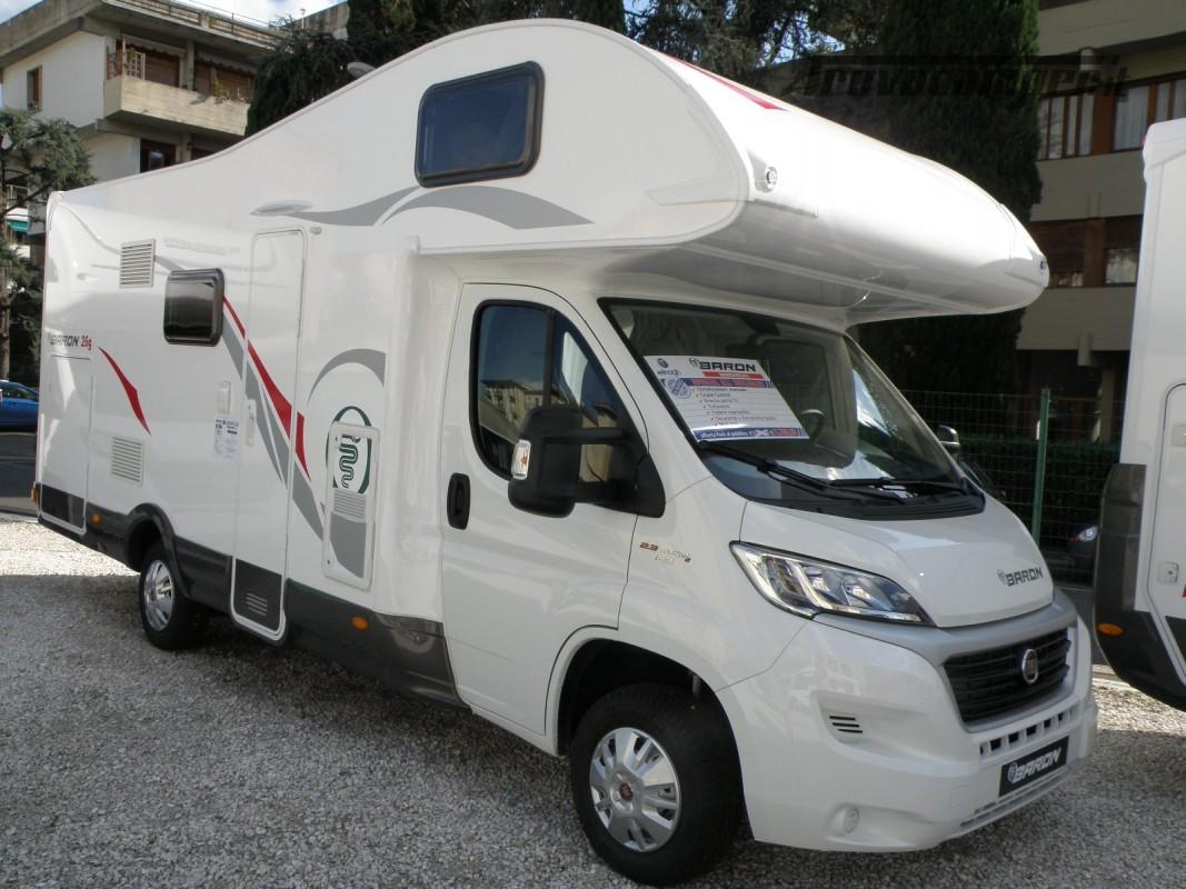 CAMPER MANSARDATO PRONTA CONSEGNA ELNAGH BARON 26 GARAGE nuovo  in vendita a Prato - Immagine 5