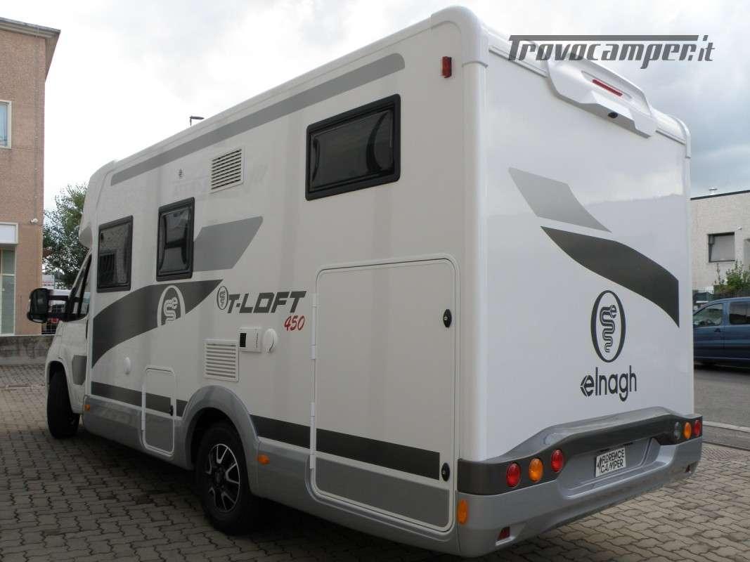 CAMPER PRONTA CONSEGNA SEMINTEGRALE ELNAGH T-LOFT 450 nuovo  in vendita a Prato - Immagine 2