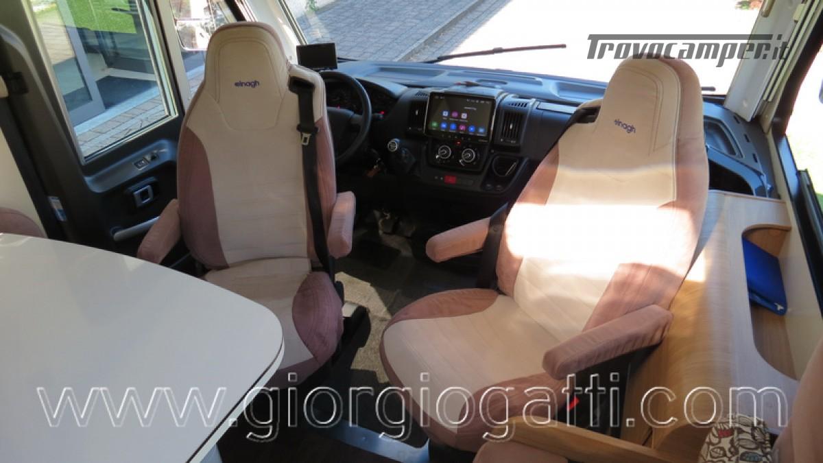 Camper Elnagh I-Loft 530 motorhome letti gemelli e garage usato  in vendita a Alessandria - Immagine 12