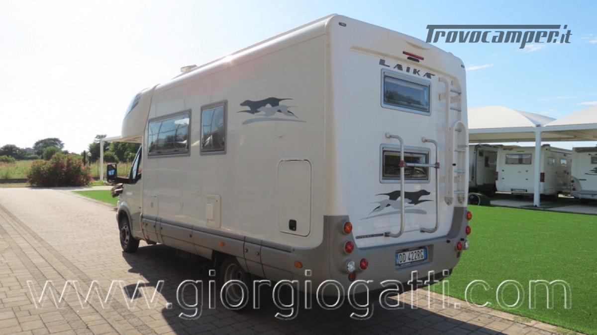 Camper Laika Kreos 3000 mansardato IVECO con garage usato  in vendita a Alessandria - Immagine 11