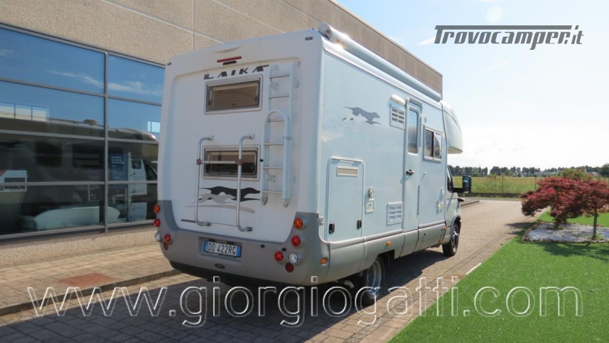 Camper Laika Kreos 3000 mansardato IVECO con garage usato  in vendita a Alessandria - Immagine 23