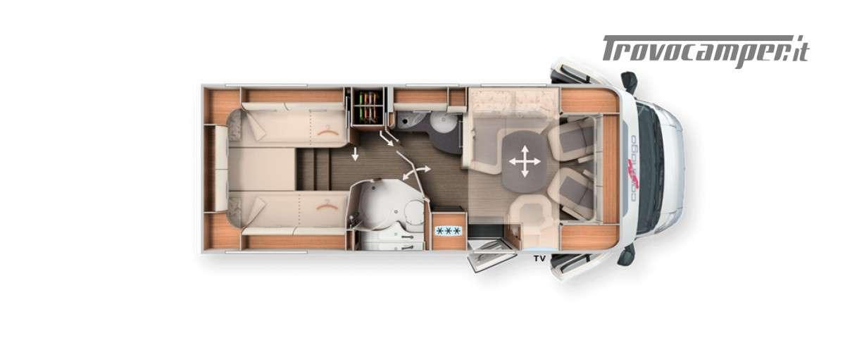 TOURER T 148 LE Semintegrale con letti gemelli nuovo  in vendita a Pordenone - Immagine 21
