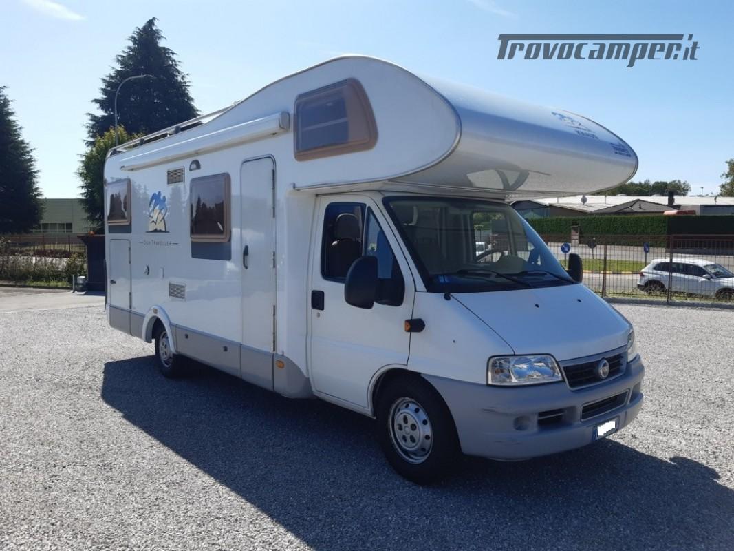 Knaus Suntraveller 708DG camper mansardato con ampio garage in coda usato  in vendita a Como - Immagine 1