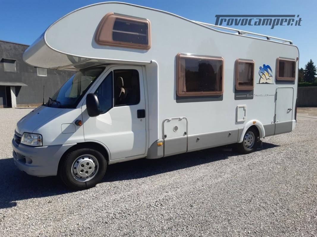 Knaus Suntraveller 708DG camper mansardato con ampio garage in coda usato  in vendita a Como - Immagine 2
