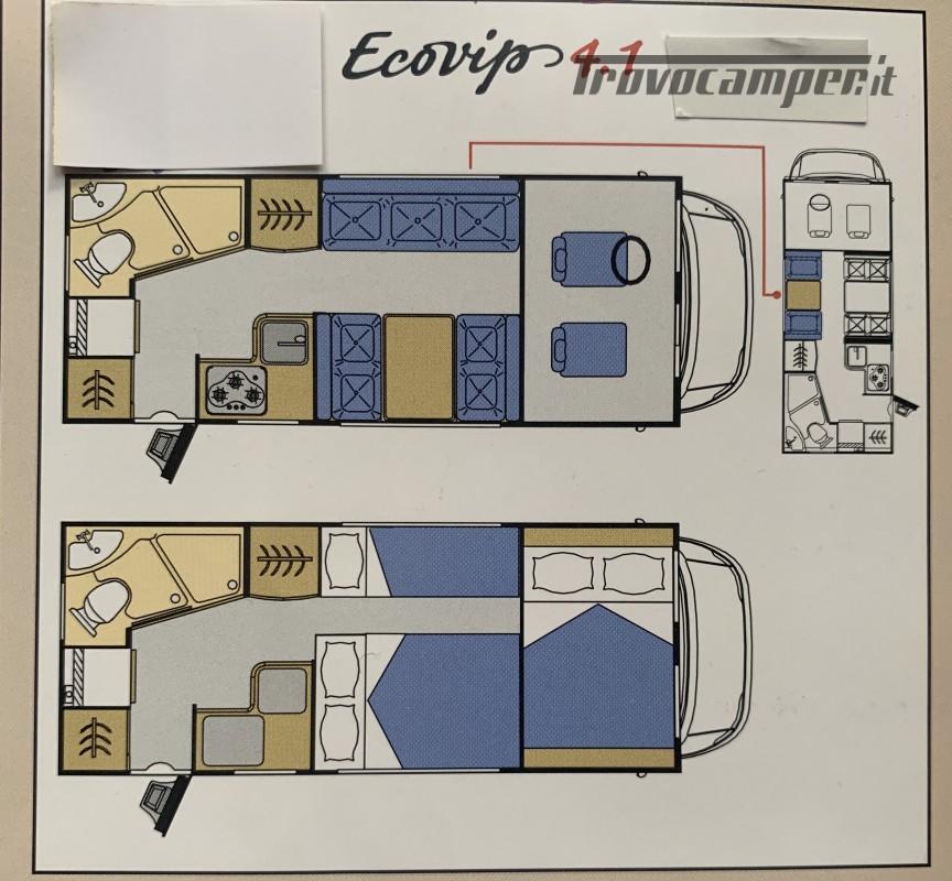 Mansardato laika ecovip 4.1 con portamoto usato  in vendita a Brescia - Immagine 19