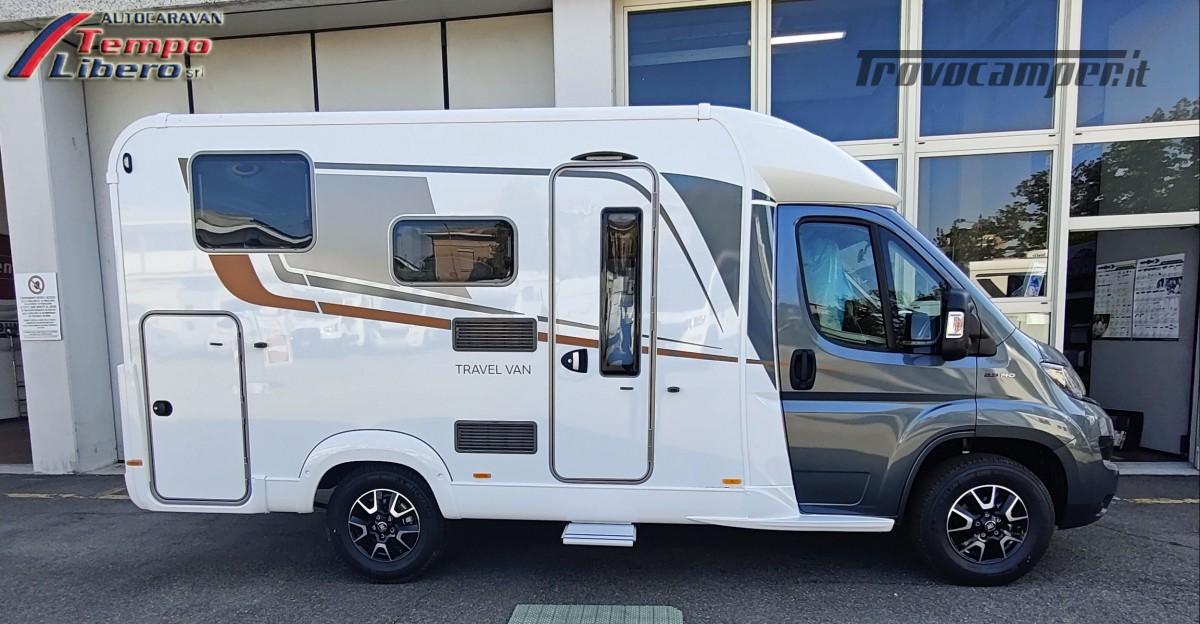 BURSTNER SEMINTEGRALE COMPATTO TRAVEL VAN T590 G CON GARAGE nuovo  in vendita a Modena - Immagine 2