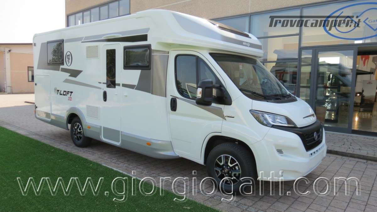 Camper Elnagh T-Loft 582 semintegrale con letto centrale e garage nuovo ducato nuovo  in vendita a Alessandria - Immagine 1