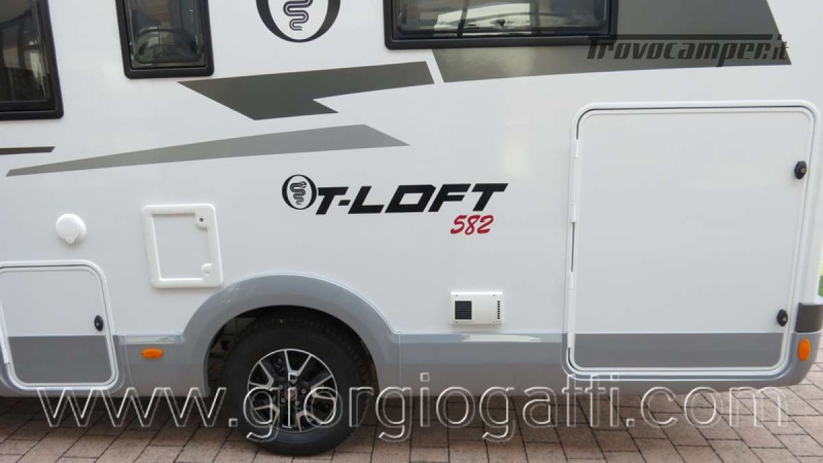 Camper Elnagh T-Loft 582 semintegrale con letto centrale e garage nuovo ducato nuovo  in vendita a Alessandria - Immagine 18