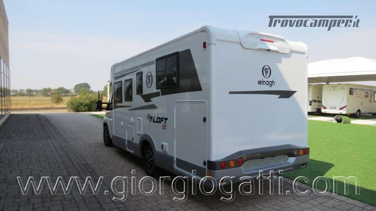 Camper Elnagh T-Loft 582 semintegrale con letto centrale e garage nuovo ducato nuovo  in vendita a Alessandria - Immagine 19