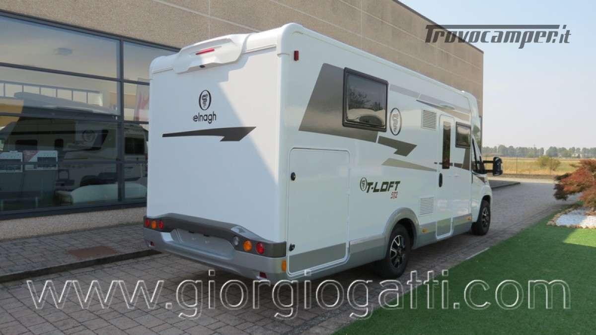 Camper Elnagh T-Loft 582 semintegrale con letto centrale e garage nuovo ducato nuovo  in vendita a Alessandria - Immagine 26