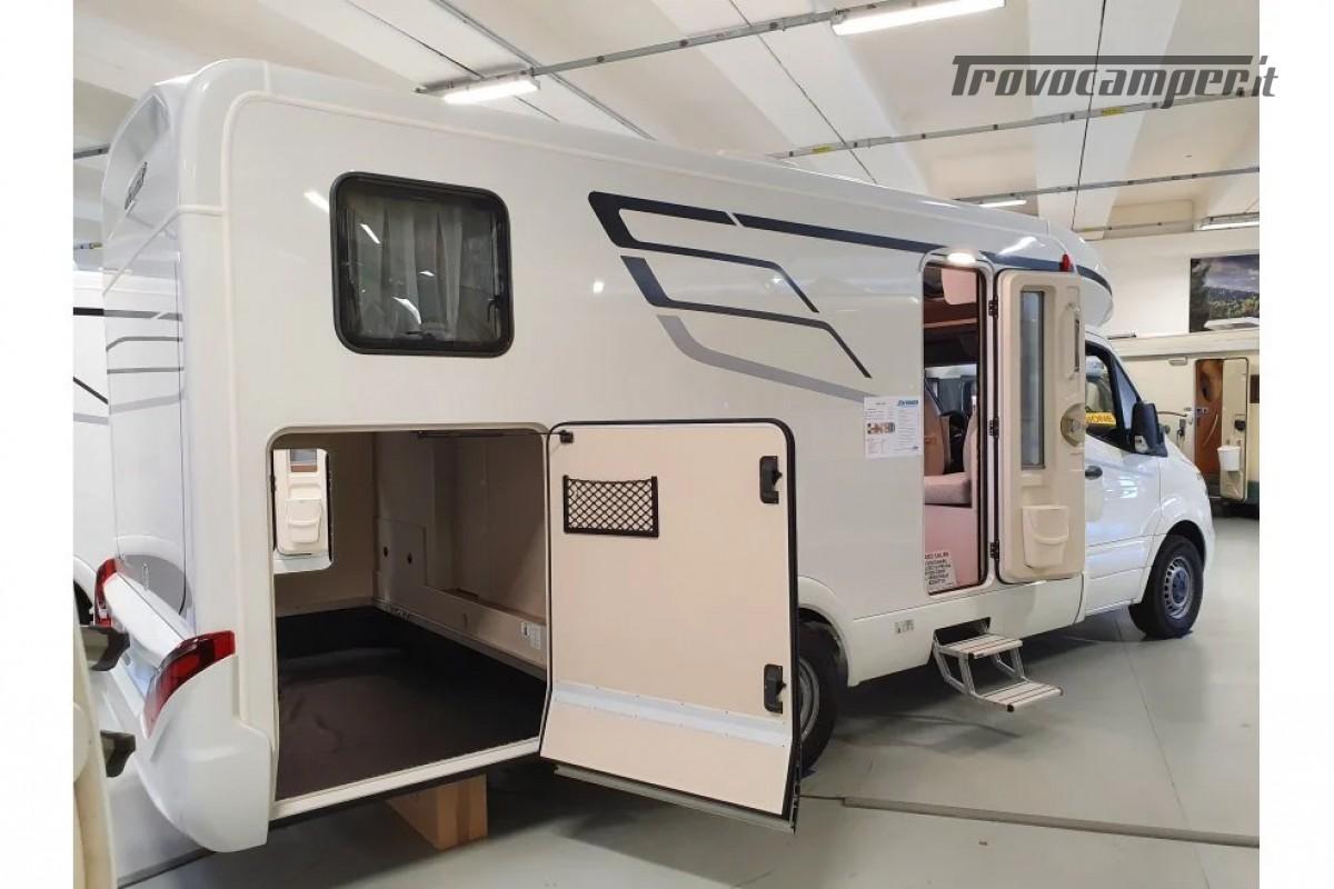 SEMINTEGRALE KM 0 HYMER TRAMP S 685 CON  LETTI GEMELLI SU GARAGE, MECCANICA MB nuovo  in vendita a Milano - Immagine 3
