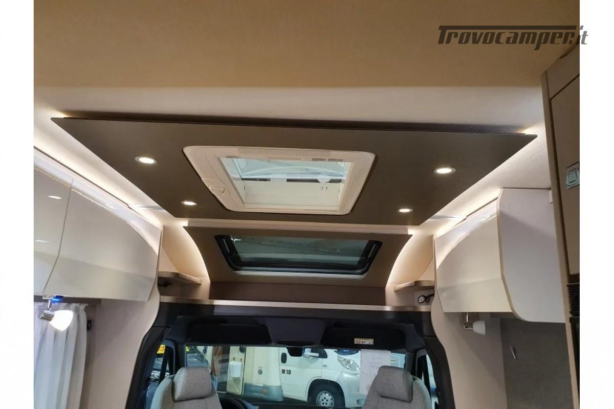 SEMINTEGRALE KM 0 HYMER TRAMP S 685 CON  LETTI GEMELLI SU GARAGE, MECCANICA MB nuovo  in vendita a Milano - Immagine 10