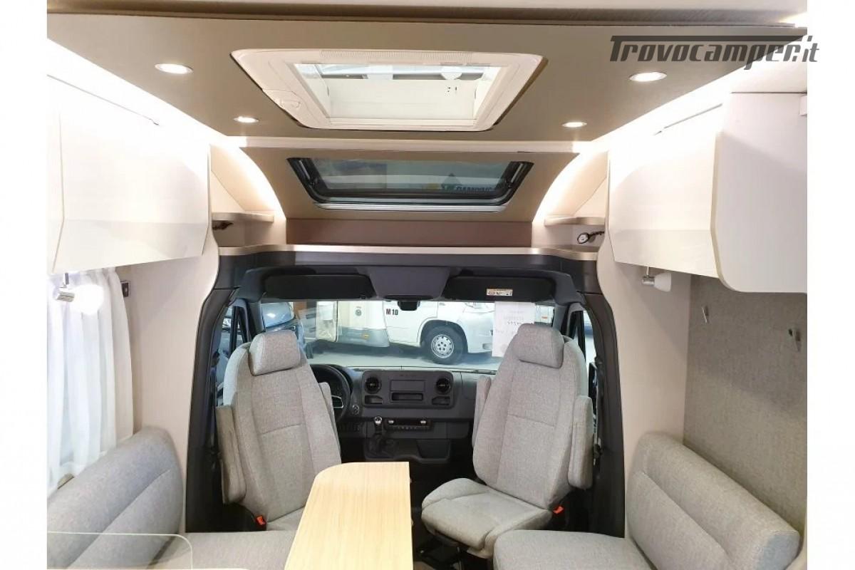 SEMINTEGRALE KM 0 HYMER TRAMP S 685 CON  LETTI GEMELLI SU GARAGE, MECCANICA MB nuovo  in vendita a Milano - Immagine 7