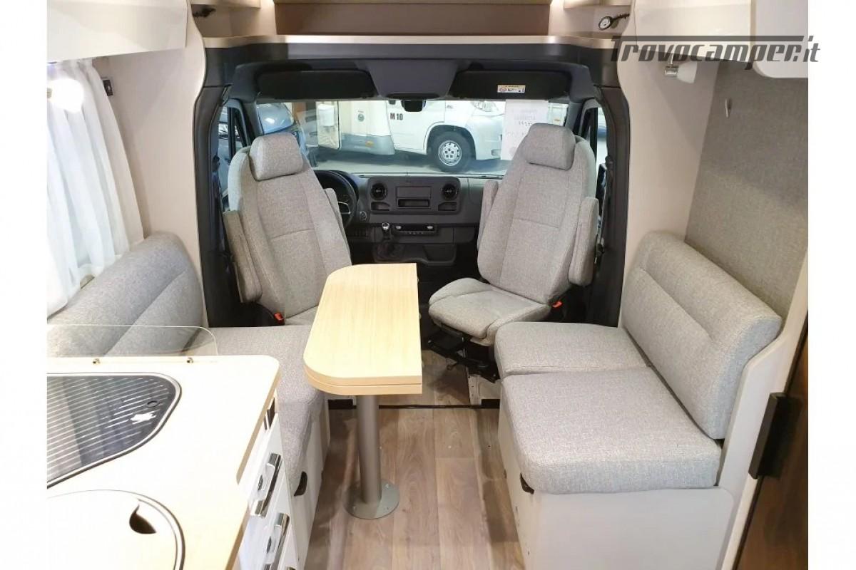 SEMINTEGRALE KM 0 HYMER TRAMP S 685 CON  LETTI GEMELLI SU GARAGE, MECCANICA MB nuovo  in vendita a Milano - Immagine 6