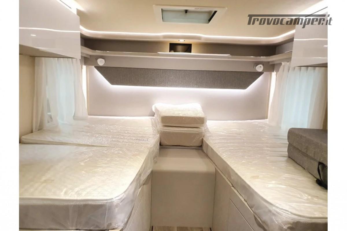 SEMINTEGRALE KM 0 HYMER TRAMP S 685 CON  LETTI GEMELLI SU GARAGE, MECCANICA MB nuovo  in vendita a Milano - Immagine 14