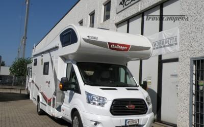 CAMPER MANSARDATO CHALLENGER CON GARAGE ANNO 2017 usato  in vendita a Prato - Immagine 1