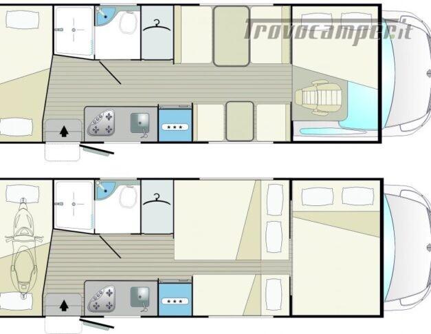 Mansardato Blucamp SKY71 OMOLOGATO 7 posti, letti castello trasversali usato  in vendita a Alessandria - Immagine 17